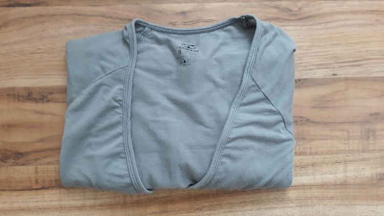 Grey Ribbed T V-Neck Undershirt