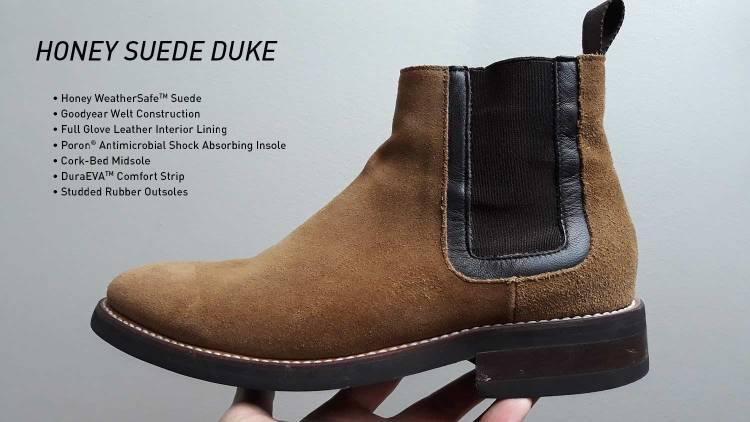 Honey Suede Duke Chelsea Boots