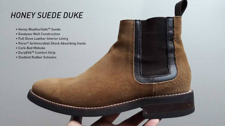 Honey Suede Duke Chelsea Boots