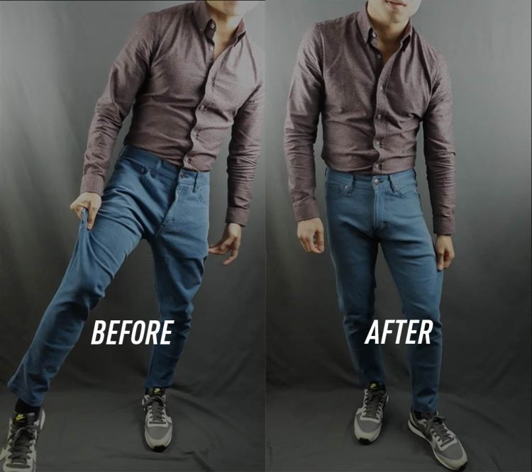 MTailor Jeans Excess Fabric