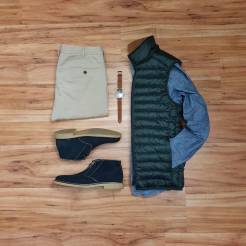 How To Wear A Casual Vest Flatlay 4
