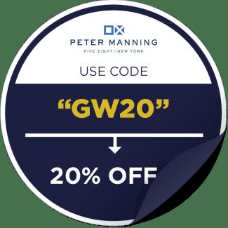 Peter Manning NYC Promo Code Sticker