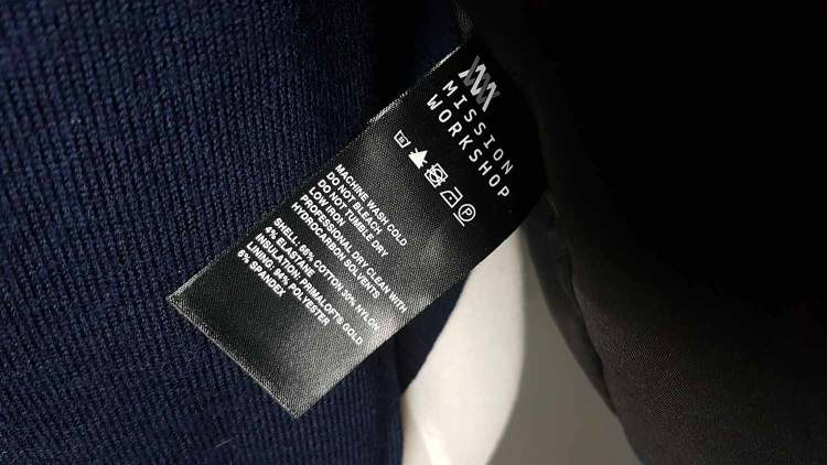 The Mission Bomber Care Label