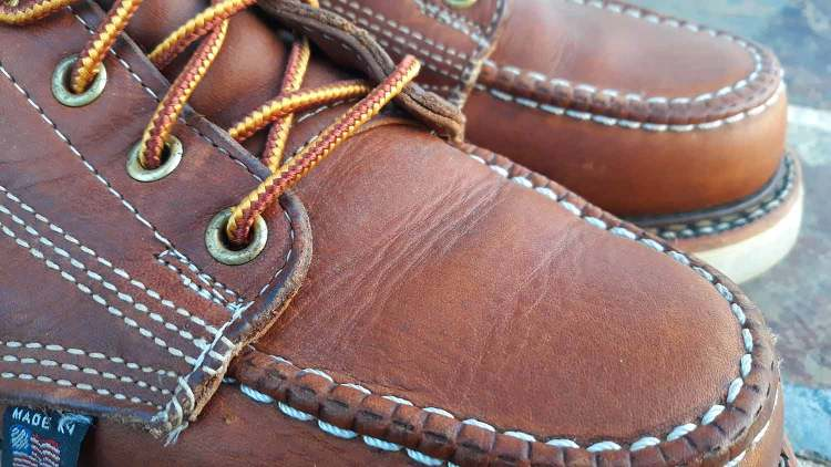 Thorogood Moc Toe Creasing