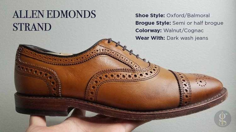 Allen Edmonds Strand In Walnut Style & Design