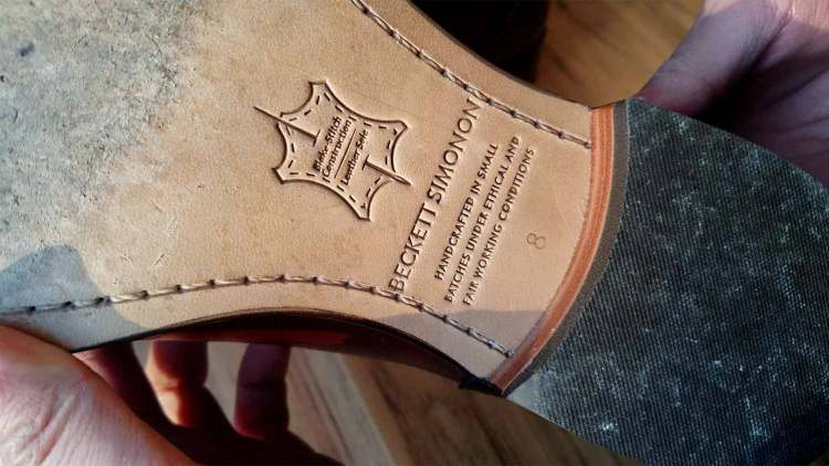 Beckett Simonon Worn Leather Sole