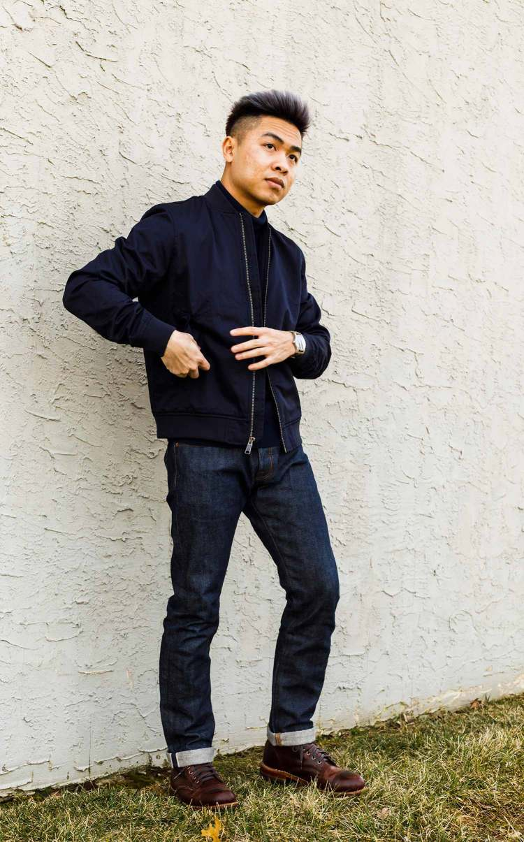 Everlane Bomber Jacket Style Shot