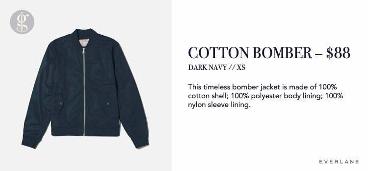 Everlane Cotton Bomber Jacket Details