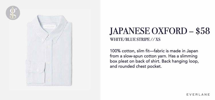 Everlane Japanese Slim Fit Oxford Details
