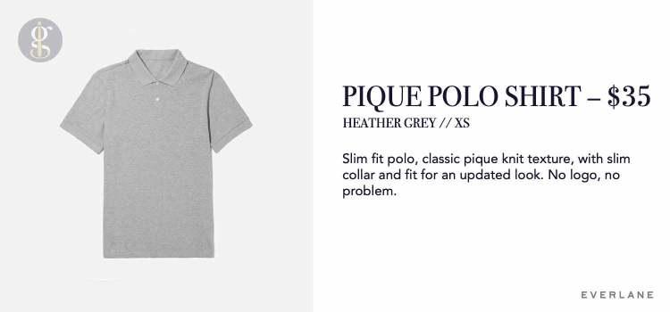 Everlane Pique Polo Shirt Details