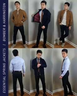Bomber Jacket and Harrington Jacket Outfit Inspiration