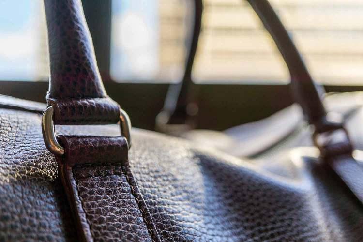 Davis Weekender Bag Clasp Detail