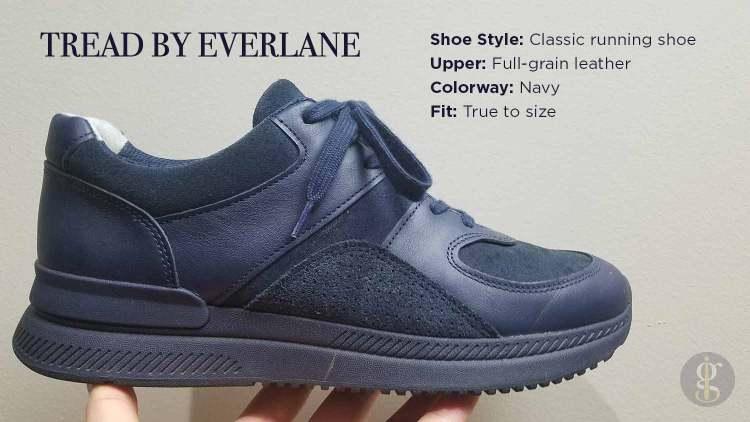 Tread By Everlane Navy Trainer Details