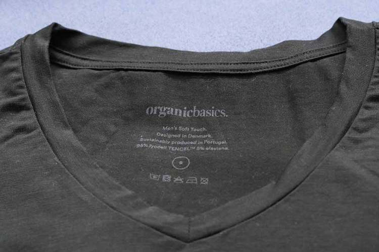 organic basics soft touch tencel tshirt details
