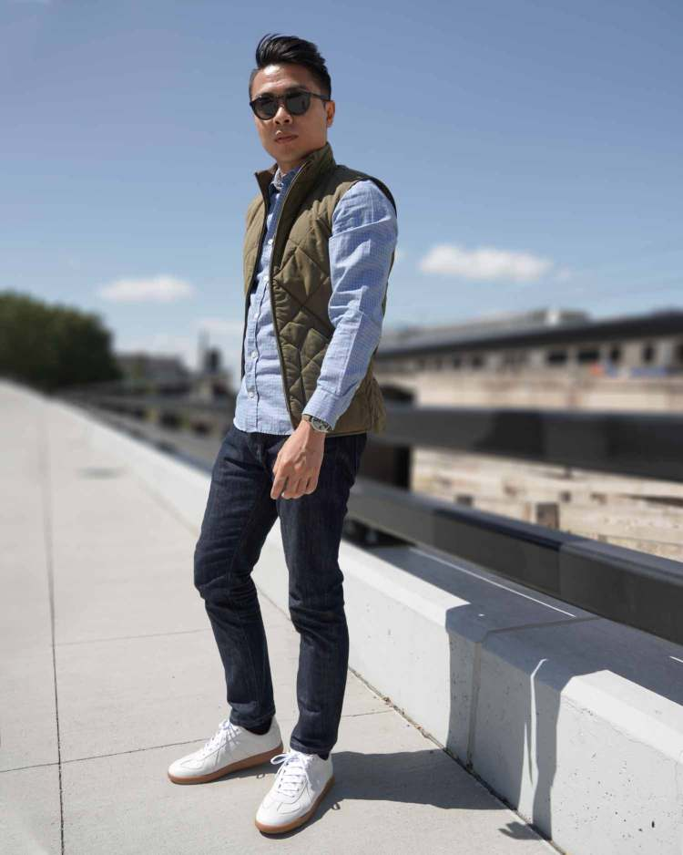 Ash & Erie Faded Gingham Summer Shirt Outfit