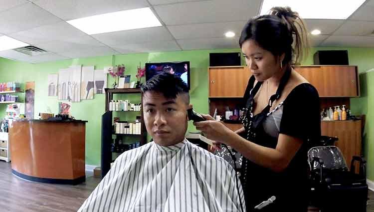 Khoi Gets Haircut