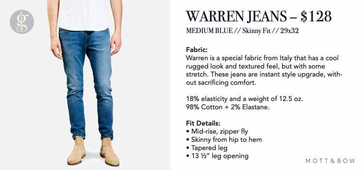 Mott & Bow Warren Skinny Jeans Details