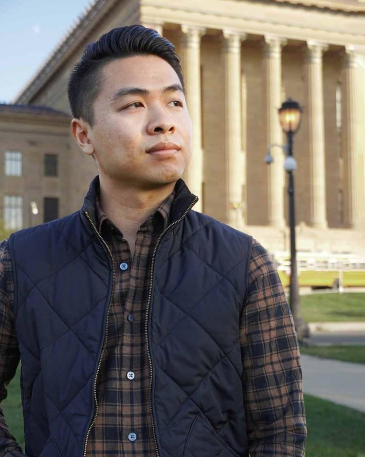 Pecan Plaid Flannel Shirt Layered Vest