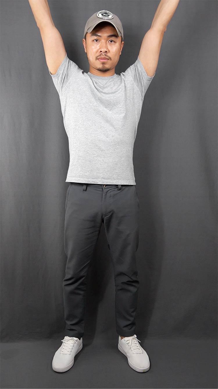 Supima Cotton T-Shirt Arms Up