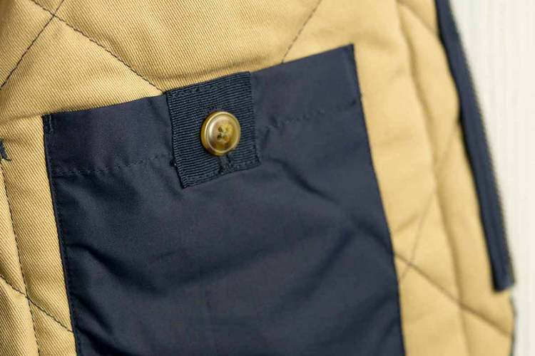 Navy Walker Vest Inside Pocket