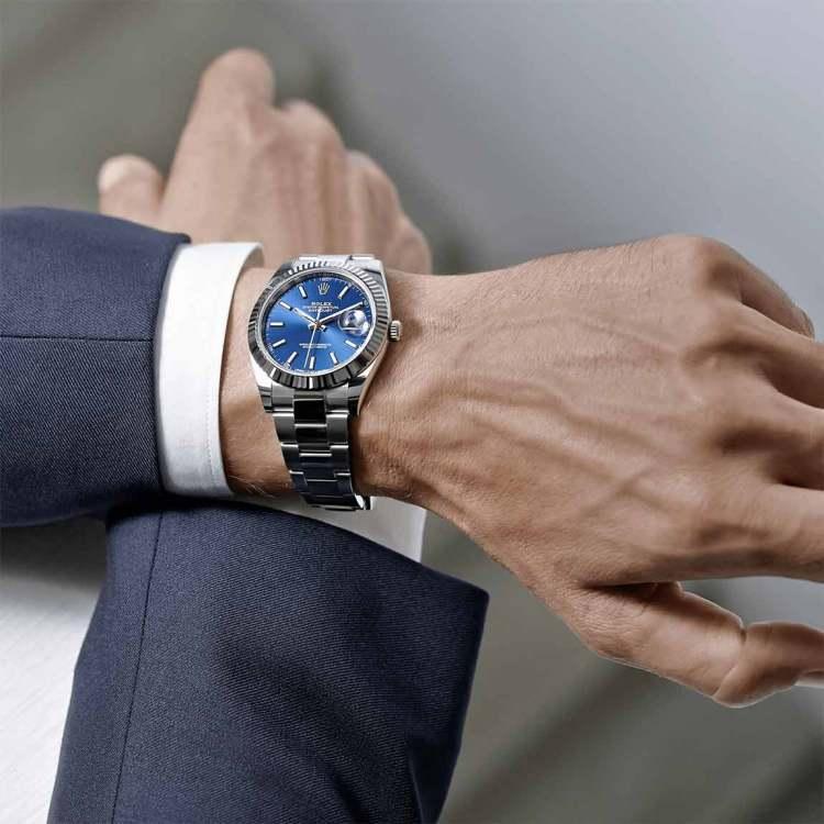 Rolex Blue Dial Style