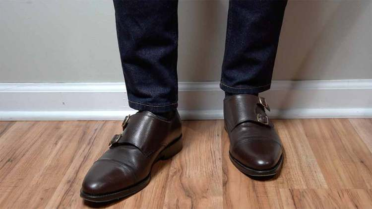 Suitsupply Dark Brown Double Monkstrap On Feet
