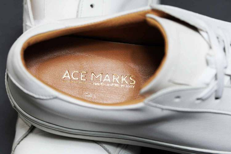 Ace Marks Sneaker Insole Handcrafted In Italy