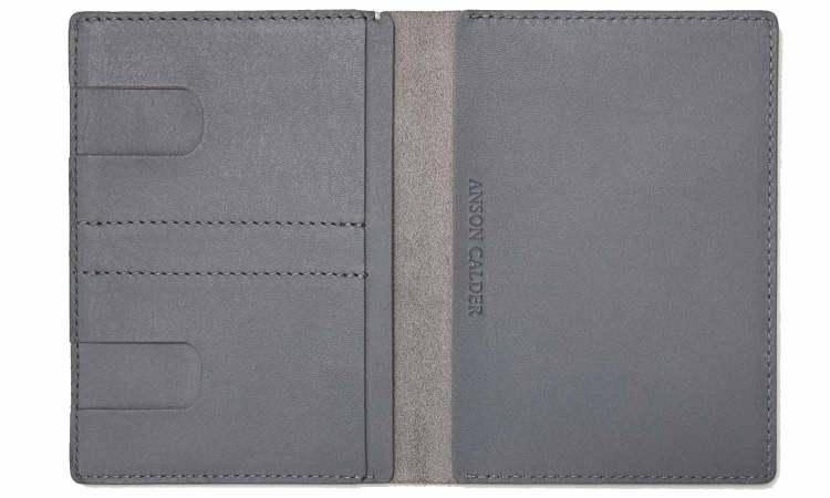 Anson Calder Grey Passport Wallet Grey