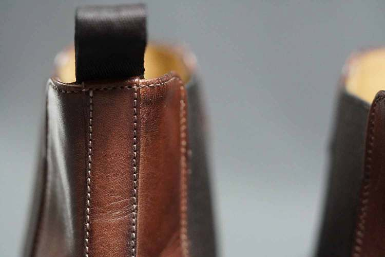 Troy Chelsea Boots Stitching Details