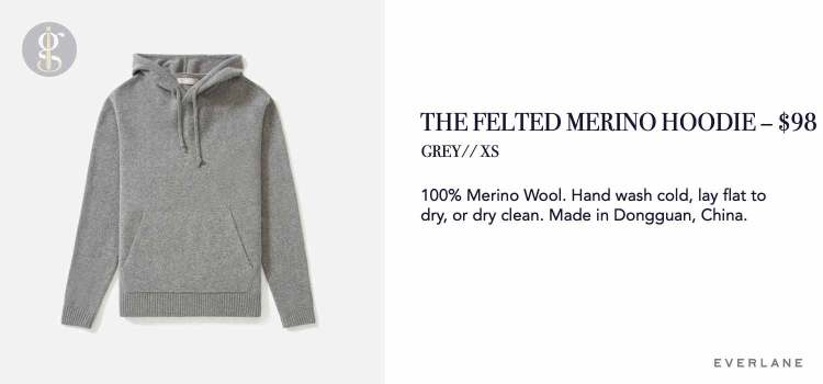 Everlane Felted Merino Hoodie Details