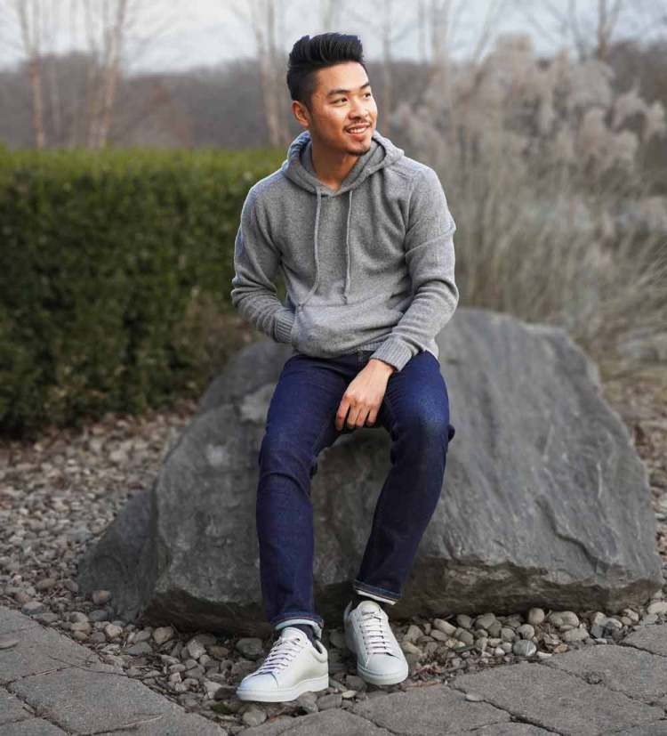 Everlane Felted Merino Hoodie Outfit