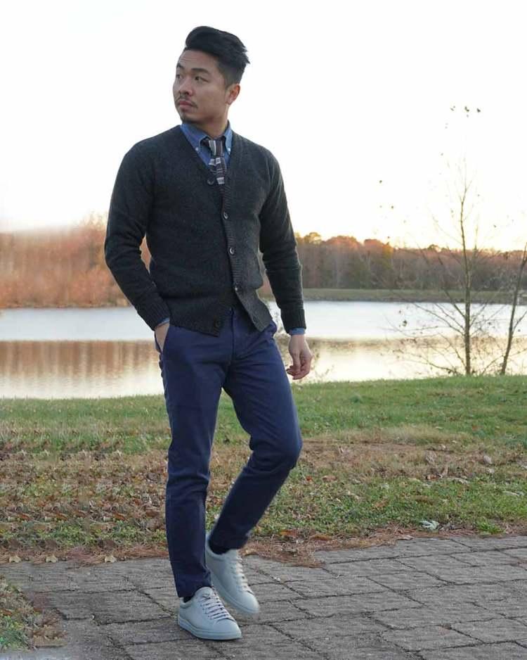 Everlane Merino Cardigan Outfit