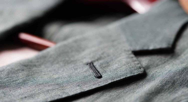 lapel buttonhole details