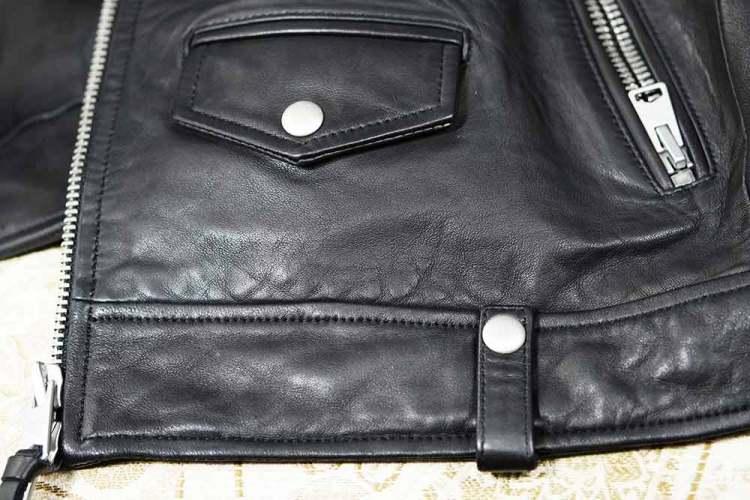 leather jacket accent details