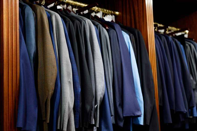 rows of suits