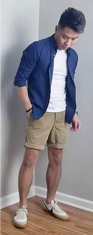white sneakers with shorts outfit 4