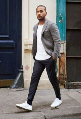 white sneakers with sport coat outfit 1