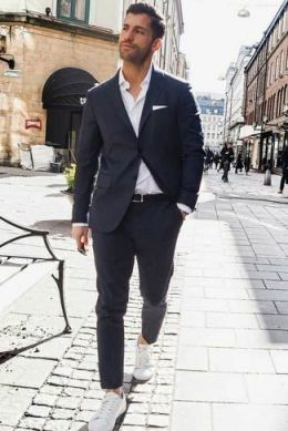 white sneakers with sport coat outfit 6