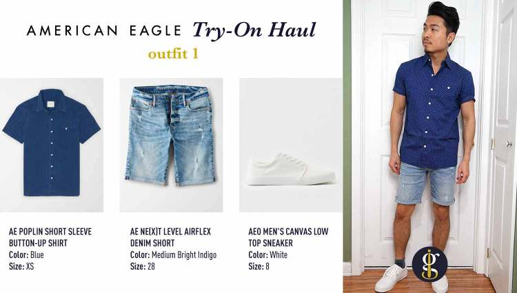 american eagle review try on haul outfit 1