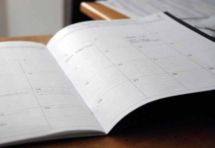 tips 5 plan out your days calendar
