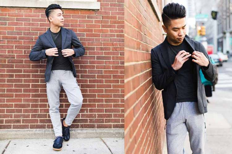 comfort jacket casual athleisure oufit