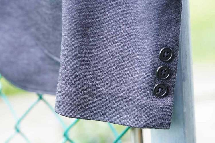 comfort jacket sleeve buttons dark gray