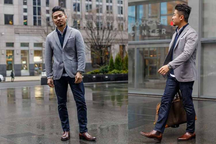 comfort jacket smart casual outfit