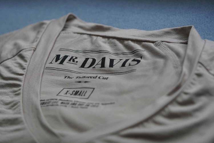 mr davis tailored cut undershirt details