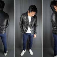 ASOS Barneys Originals Quilted Leather Biker Jacket Fit