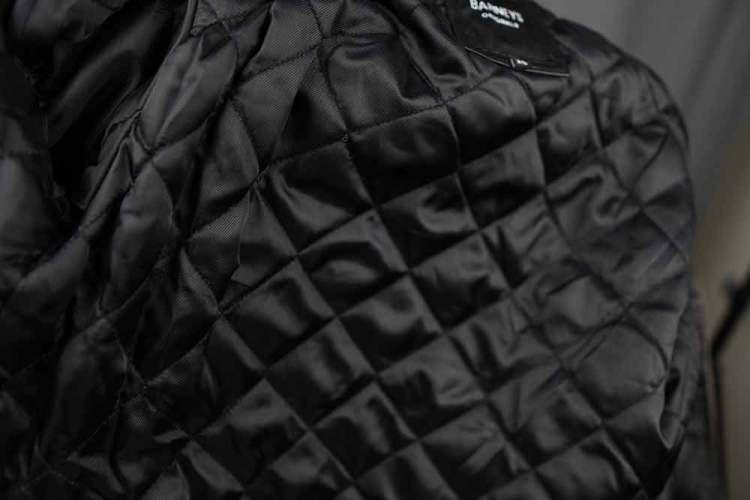 Barneys Originals Belted Biker Jacket Quilted Lining