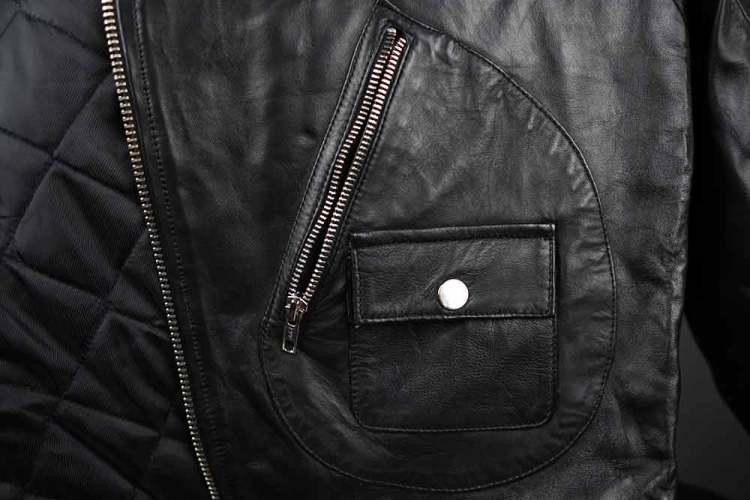 Barneys Originals Belted Biker Jacket Zipper And Pocket