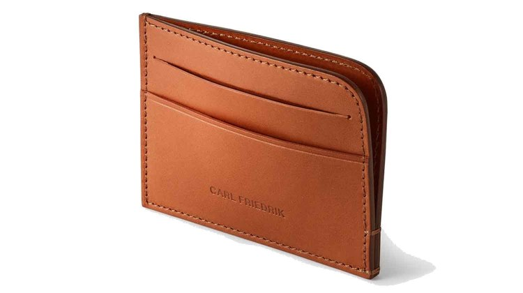 carl friedrik hatton leather cardholder