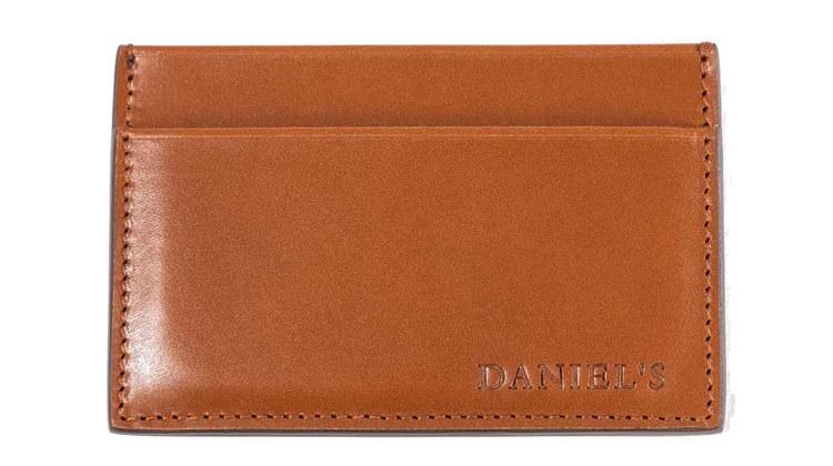 daniels leather card wallet