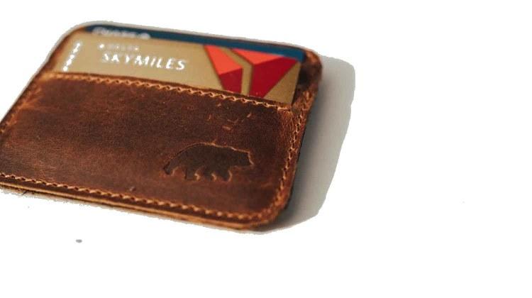 kodiak leather kenai minimalist wallet